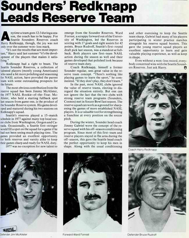 Pilot Nation regular to be new coach of England NT??? HarryRedknappSeattleSoundersReservesCoach1978