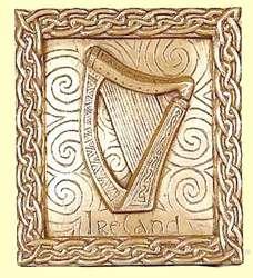 La harpe comme symbole officiel de l'Irlande : Harpe