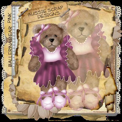 {Kits Digitais} Urso, Ursinho, Ursinha - Página 3 Ballerina_Bear_Pink_Preview