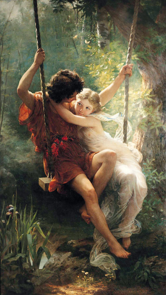 Zena na slikarskom platnu - Page 2 1873_Pierre_Auguste_Cot_-_Spring