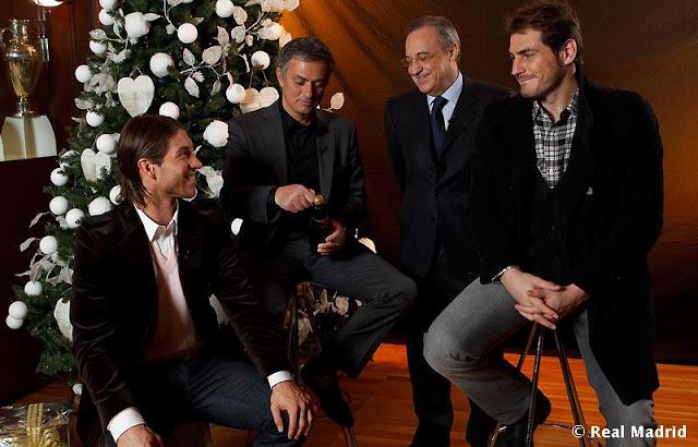Fotos navideñas del Real Madrid Brindis