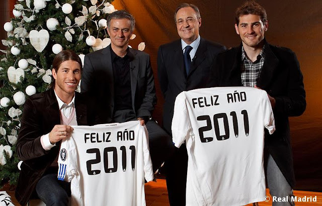Fotos navideñas del Real Madrid Feliz_2011