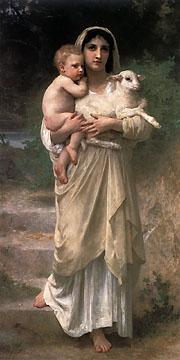 الرسام  الفرنسي وليام بوجويريو ومجوعه من اعماله Le_Jeune_Bergere_1897