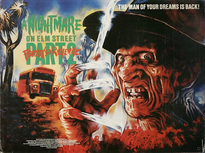 -Los mejores posters/afiches  del cine de terror y Sci-fi- Nightmare_on_elm_street_2_p