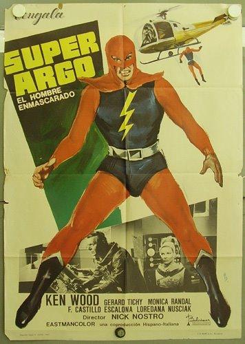 Superargo, el hombre enmascarado- SUPERARGO CONTRA DIABOLICUS- 1966, Nick Nostro CARTEL