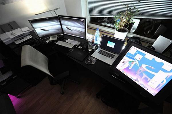 Imagens [Espantosas] Os mais incríveis escritórios em casa  Escritorio13