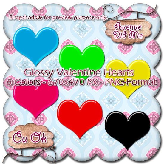 Glossy Hearts + Template GlossyHeartsPreview