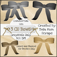 3 Greyscale Bows - By: Twin Mom Scraps TMS_CUBowsPREVIEW