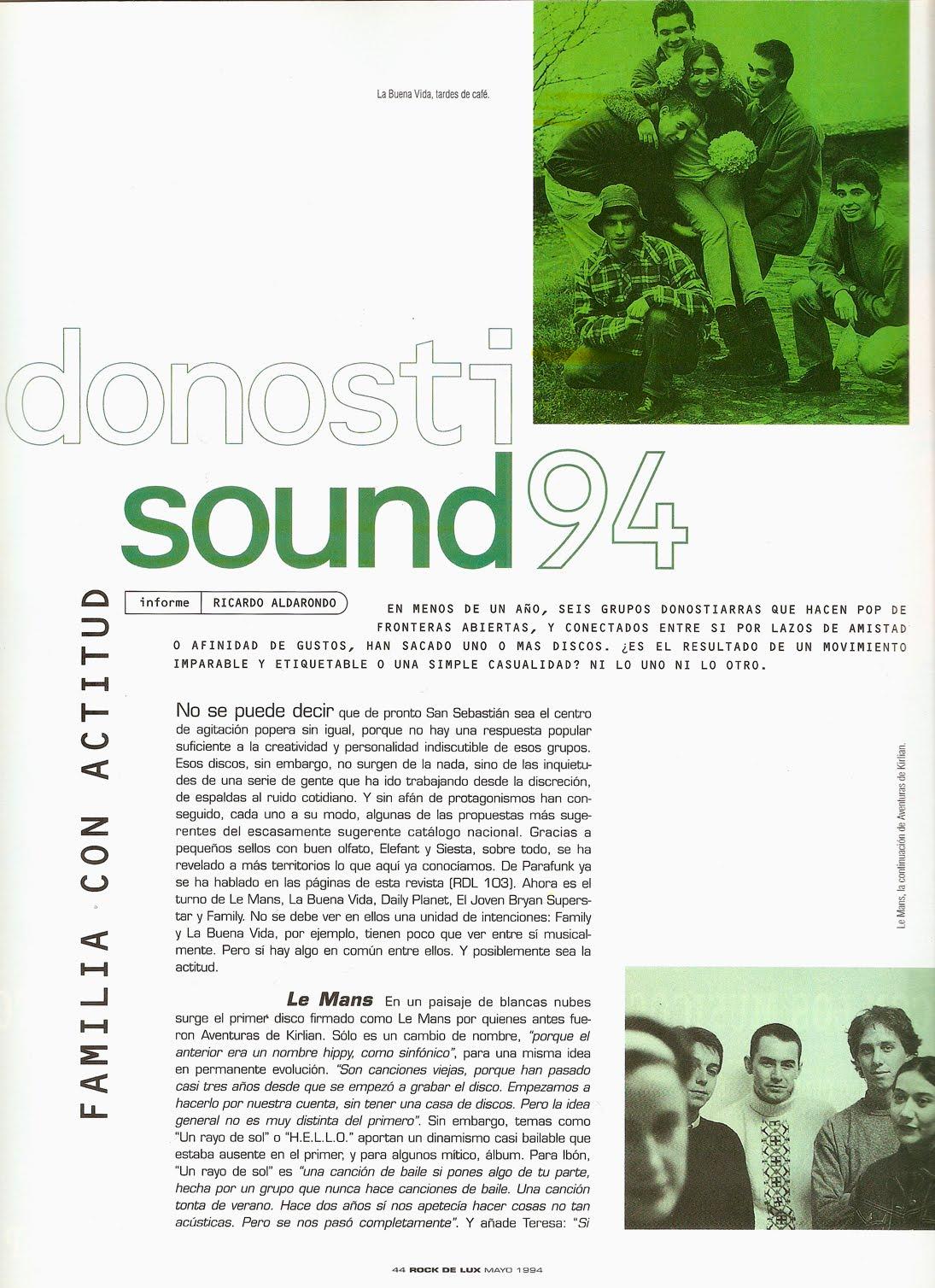 Donosti Sound - Family, La Buena Vida, Le Mans, Aventuras de Kirlian Informe-donosti-sound-rockdelux-108-mayo-1994-1