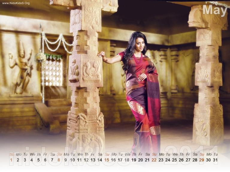 Trisha Krishnan Trisha-New-Year-Calendar-2011-Desktop-Calendar-May