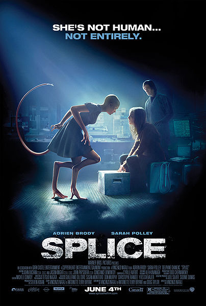 Vos derniers visionnages DVD et  Blu Ray - Page 5 404px-Splice-poster