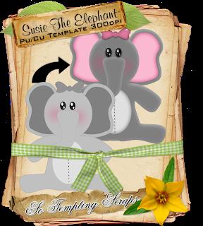 CU Little Susie The Elephant Template STS_FreebieSusieTheElephantTemplate