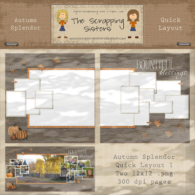 Autumn Splendor Quick Layouts by Scrapping Sisters _ScrapSis_ATMN_QuickLayout1Preview