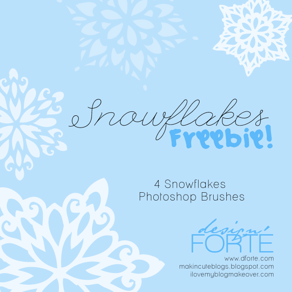 Snowflakes 4 PS Brushes Freebies  by Carolyn Snowflakes_by_DesignForte_Freebie_preview