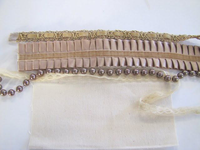 Браслет-манжета из ткани, лент и кружев IMG_8366