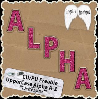 Pink Glitter Upper Case Alpha AngelsDesignz_PinkGlitter_Alpha_Freebie