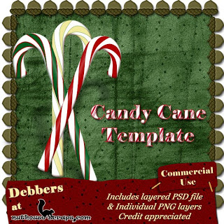CU Candy Cane Template go to blog to get free download directly from store Debbers_CandyCane_Freebie