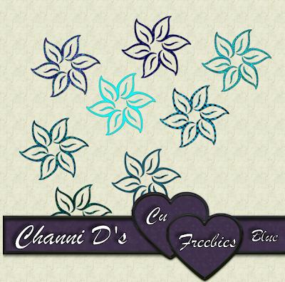 BLUE FLOWERS by Channi Bluef
