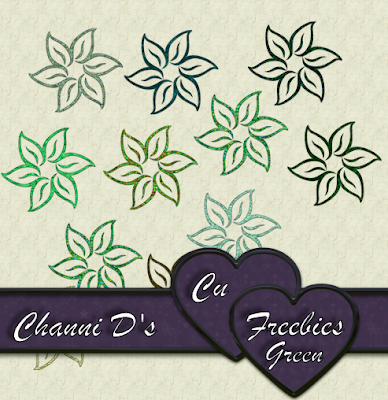 GREEN FLOWERS by Channi Greenf