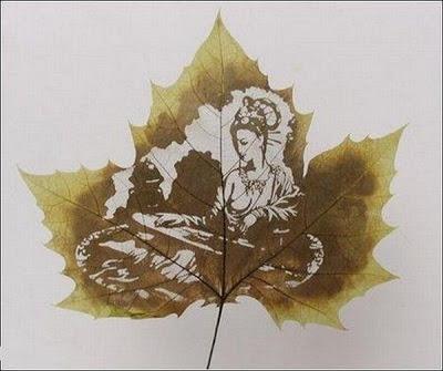 இலைகளில் அழகிய உருவங்கள்  Figures-on-leaves-13