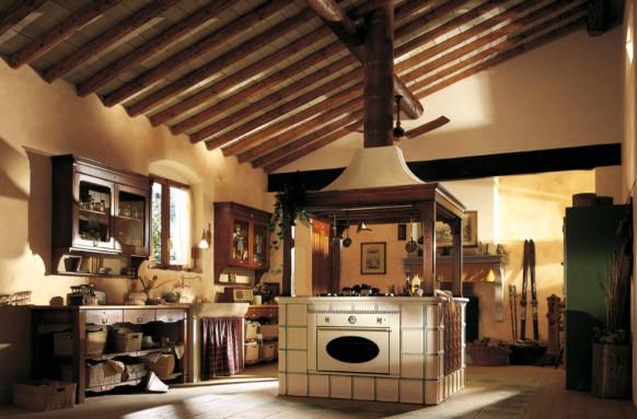 مطابخ كلاسيكيه - صفحة 2 Country-island-kitchen-582x383
