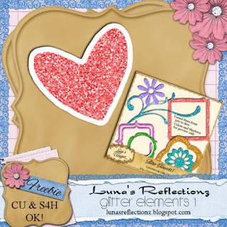 Valentine Glitter Embellishmants - By: Luna's Reflectionz LR-glitterelements1_freebie