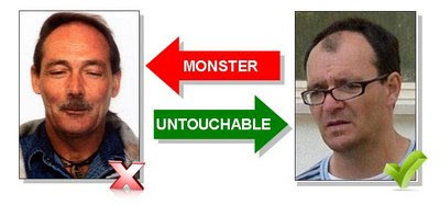Spot the difference: Raymond Hewlett versus Dr David Payne SUSPECTS