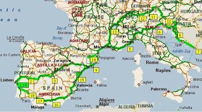 Viagem pelo Sul da Europa 2008 Croatiamap