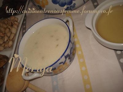 Hssowa ou 7ssowa ou Asskiff marocain sucrée de semoule à l' anis et au lait. DSC06772