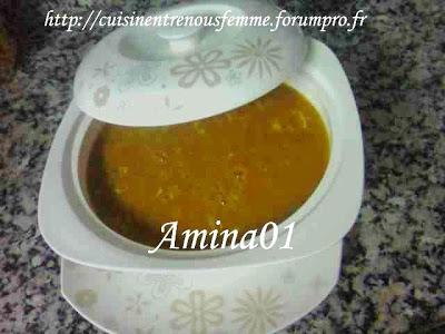 Harira marocaine / 7rira marocaine /  Soupe nationale au Maroc Amina11
