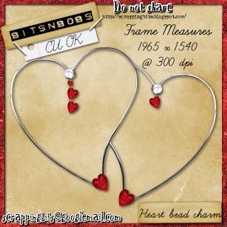 BNB heart bead charm frame by Bits N Bobs BNB-heart-bead-charm-frame-preview