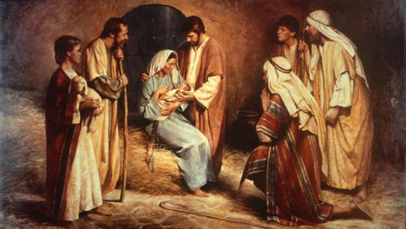 Pab xav txog lub ntsiab hauv tej zaj nyeem Birth_of_jesus