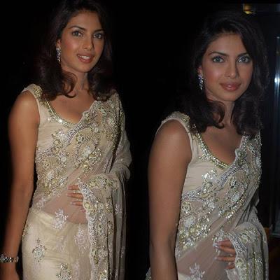 Priyanka Chopra - Stránka 3 Priyanka-chopra-saree