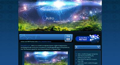 125 excelentes templates para Blogger Astro