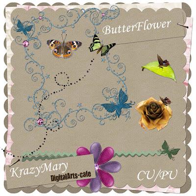 Butterflower Blog Freebie KrazyMary_Butterflower_prev