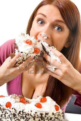 ¡¡¡¡¡¡  Anna_90 !!!!! 2867874-joven-mujer-glotones-hambrientos-de-comer-pastel-aisladas