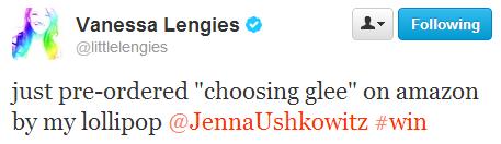"""صور من كتاب تينا """" choosing glee """" Tumblr_mljfem4o5e1s9exwqo1_500"""