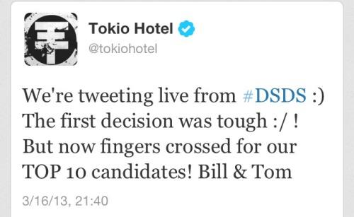 Tokio Hotel Twitter - Kaulitz from DSDS (16/03/2013) Tumblr_mjrtjqNQMN1rv3ublo1_500