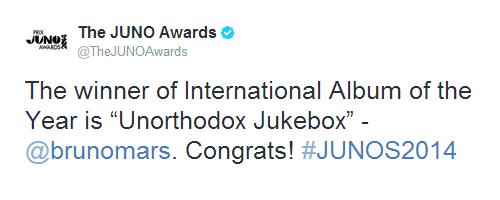 Bruno Mars >> Premios, nominaciones y récords - Página 3 Tumblr_n38xdwlCqH1rgu4kio1_500