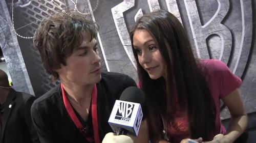 Nina Dobrev and  Ian Somerhalder. Tumblr_llthpr86Ge1qkaq8to1_500