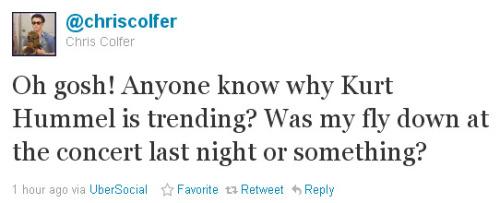Loser: Kurt Hummel/Chris Colfer - Página 4 Tumblr_lmfrnoBP0C1qawdjfo1_500