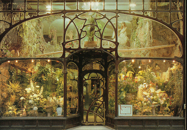 Flower-shop, Brussels, designed by Paul Hankar, XIX century