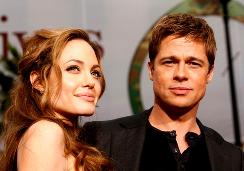 Brad Pitt and Angelina Jolie. Tumblr_lkf2sf2aOP1qjy22vo1_500