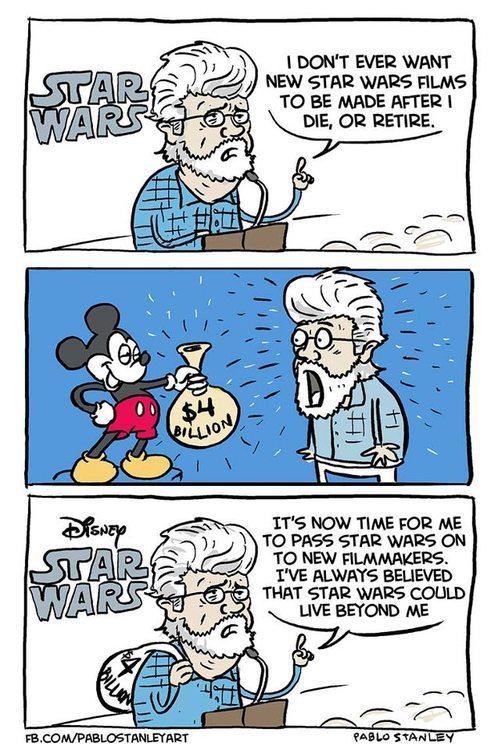C'est l'histoire de Disney qui dit à Lucasfilm ... Je suis ton père Tumblr_mcqoa9JFny1rhju54o1_500