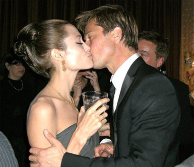 Brad Pitt and Angelina Jolie. Tumblr_lp2sqh6eej1qg6x1vo2_400