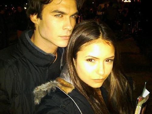 Nina Dobrev and  Ian Somerhalder. Tumblr_llrquzusti1qkaq8to1_500