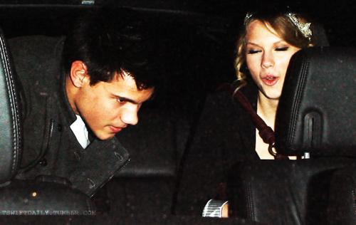 Taylor Swift and Taylor Lautner. Tumblr_lo2s3oluq21qmvomgo1_500