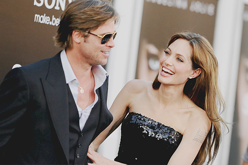 Brad Pitt and Angelina Jolie. Tumblr_lpivnfmo871qbm2gco1_500