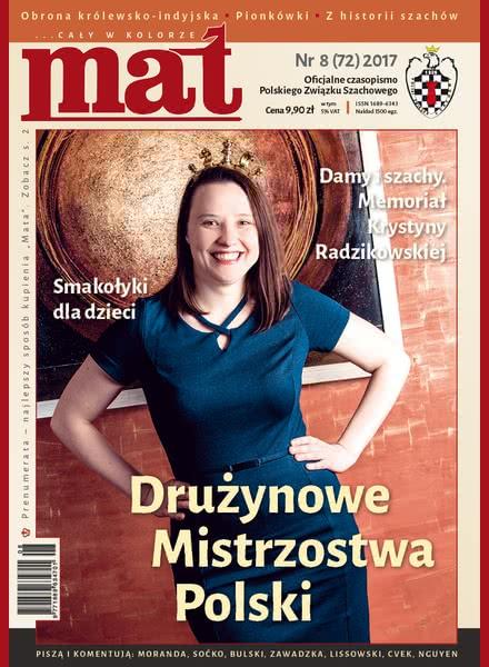 CHESS PERIODICALS :: Czasopismo MAT (Polish Chess Magazine) Mat-72-2017-08