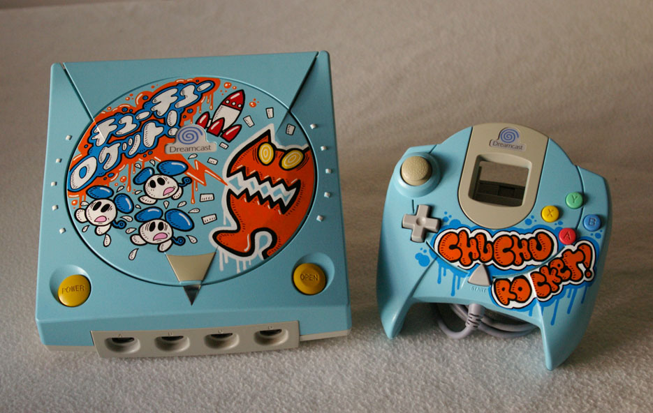 Conheça os impressionantes consoles customizados de Oskunk Oskunk-dreamcast-chuchu-rocket-01